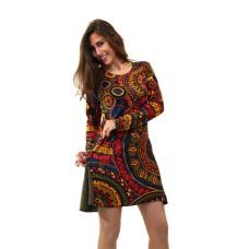 Vestido colorido W6D22